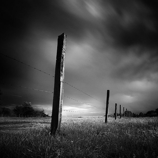 black and white landscape photography by Maurese Polizio