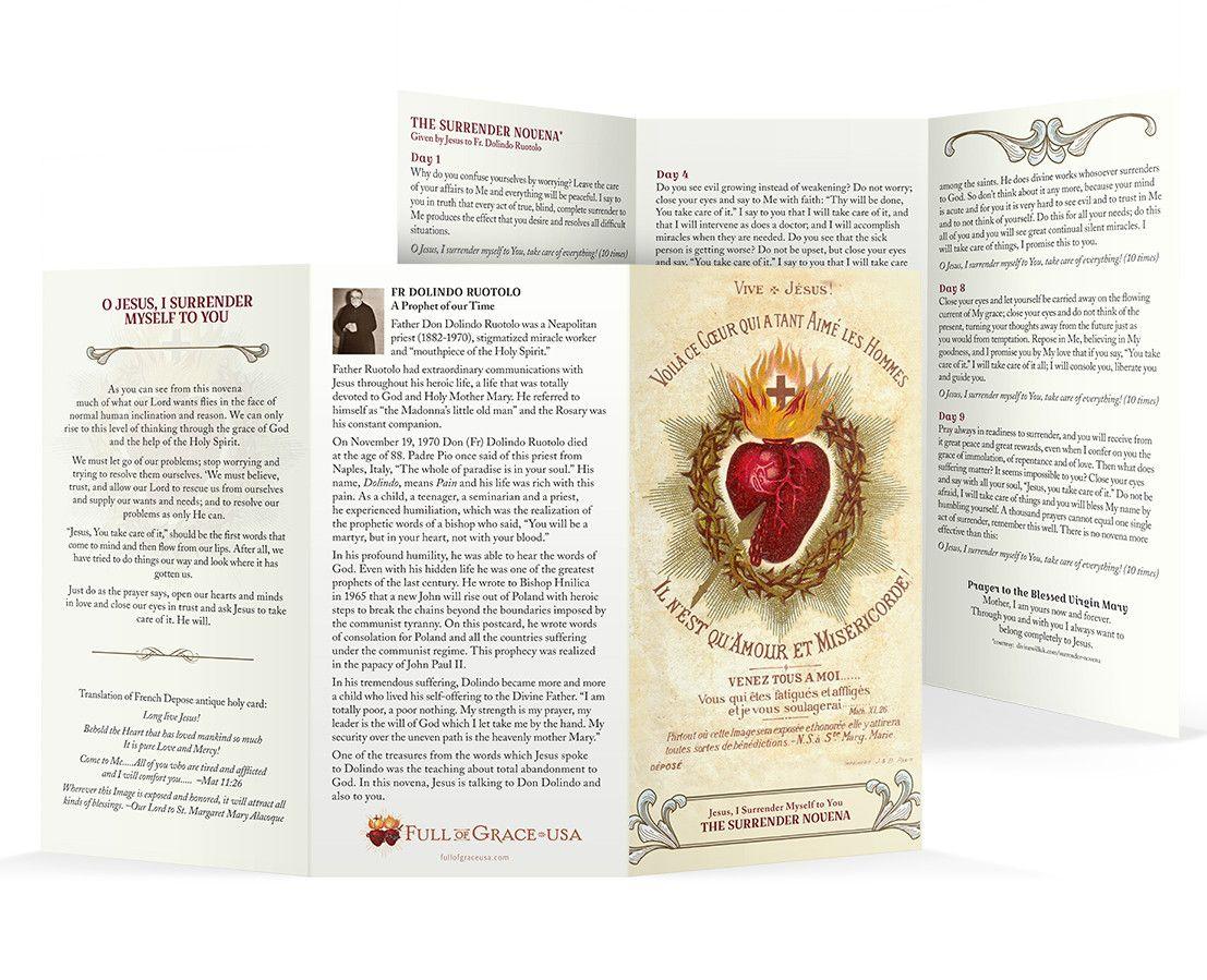 The Surrender Novena With Images Holy Cards Novena Surrender