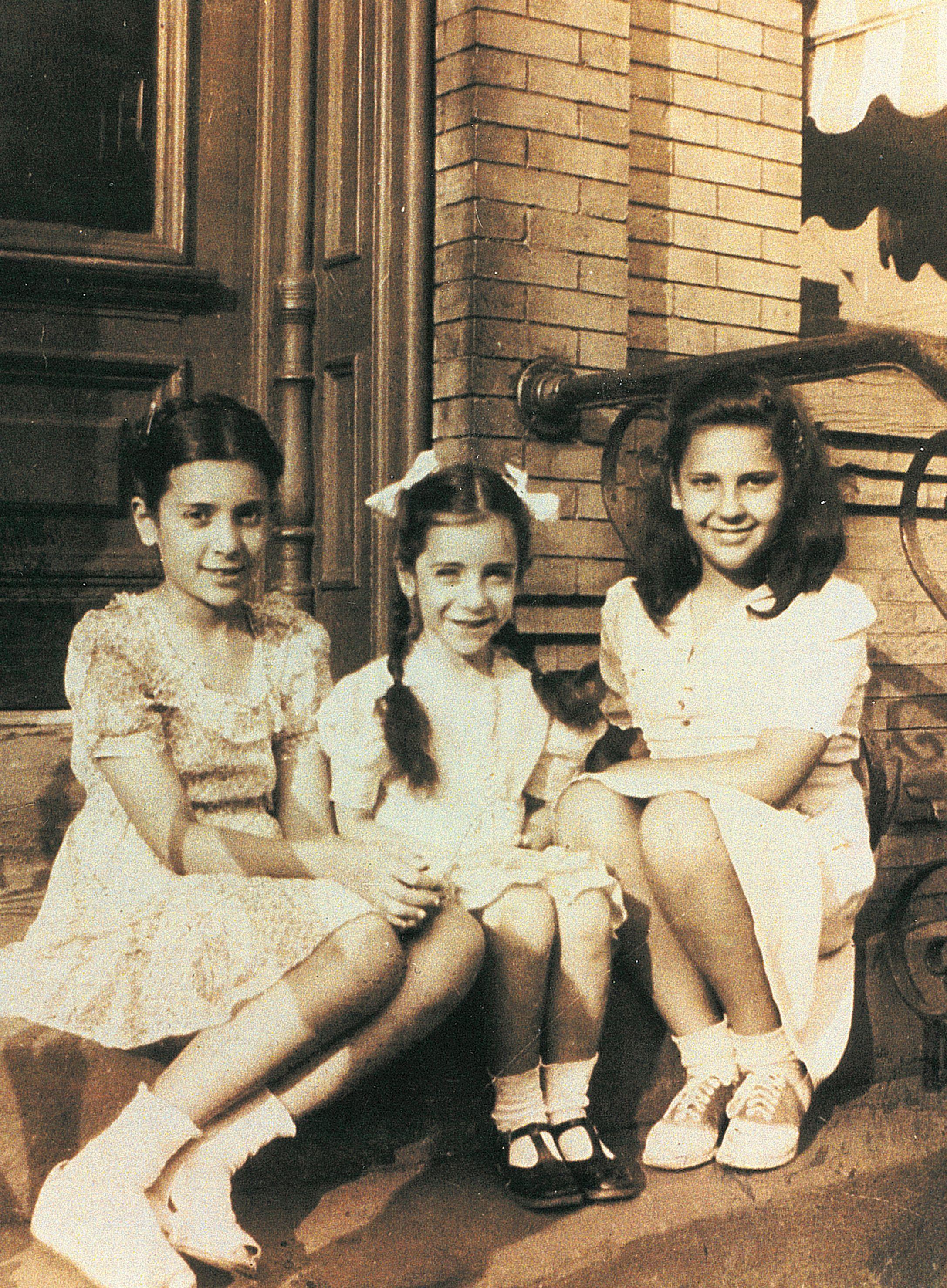sisters in brooklyn new york 1940s  vintage portraits