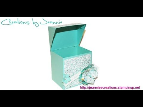 Cute Tiny Hinged Lid Box Tutorial by Creations by Jeannie