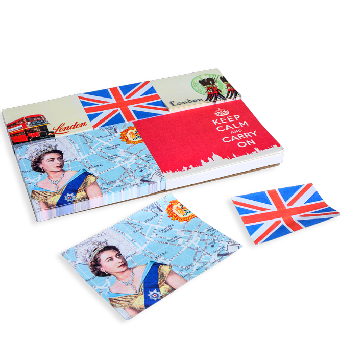 For every task, tidbit, and to-do, nothing's more noteworthy than this London Sticky Note Set. Delightfully packaged in a silvery tin, it just might be the handiest stocking stuffer of all time.