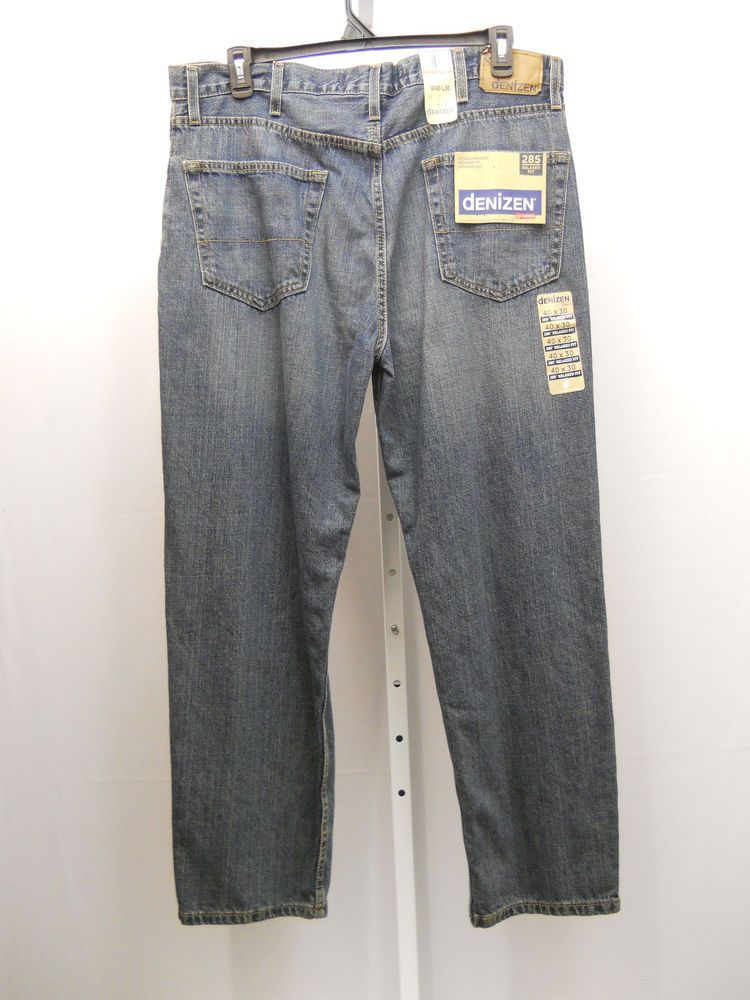 Men's Jeans Size 40X30 DENIZEN Stonewash Relaxed Fit Straight Legs 100% Cotton #Denizen #ClassicStraightLeg