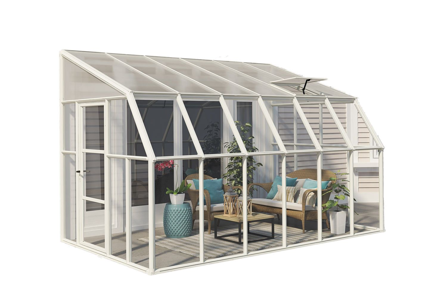Rion Sun Room 8x12 Lean to Greenhouse Polycarbonate