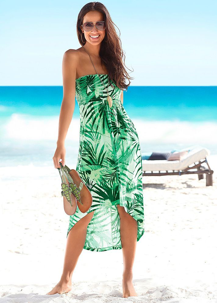 792809df16bc GREEN MULTI Strapless print dress from VENUS | My Closet in 2019 ...