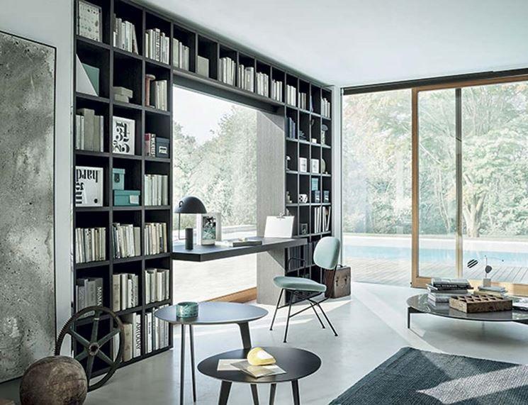 Libreria Con Scrivania Incorporata Ikea Scrivania In Cocobolo