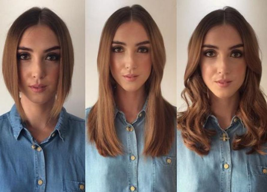 Image Result For How To Blend Extensions With A Bob Hair And Nails