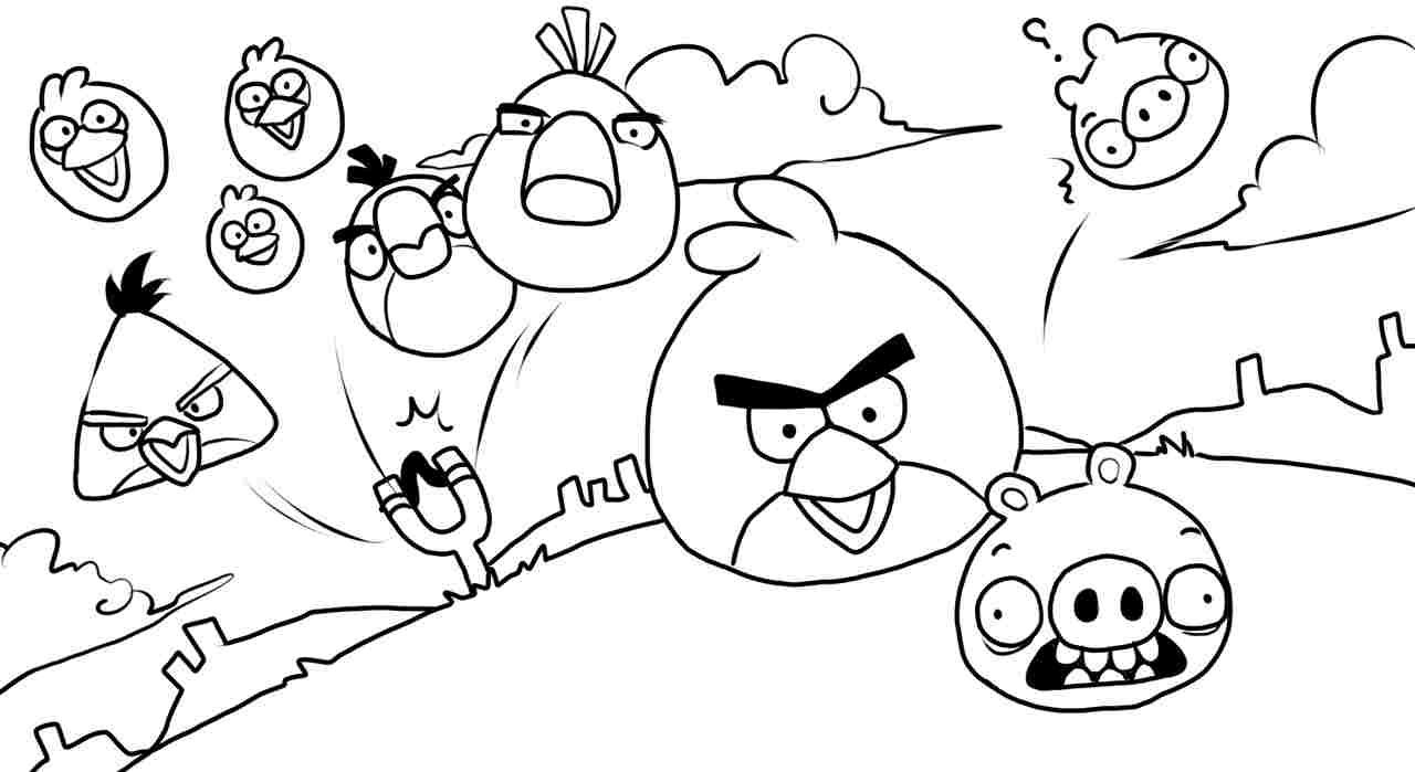 Angry Birds Coloring Pages 06 | Coloring Pages | Pinterest | Angry ...