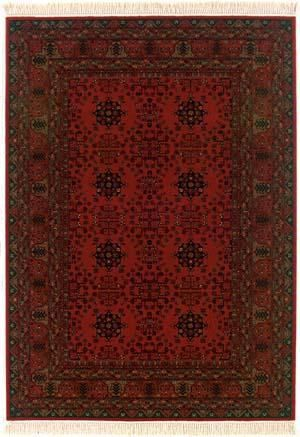 Rugstudio Presents Couristan Kashimar Afghan Nomad Red 7870 1872 Machine Woven Good Quality Couristan Rugs Afghan Rugs Red Rugs