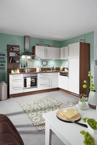 Eckküche in Hellgrau und Walnuss - eine Küche zum Wohlfühlen - bilder in der küche