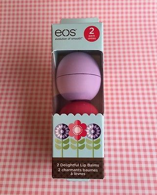New 2015 EOS Spring Limited Edition 2 Pack Lip Balm, Watermelon & Passion Fruit