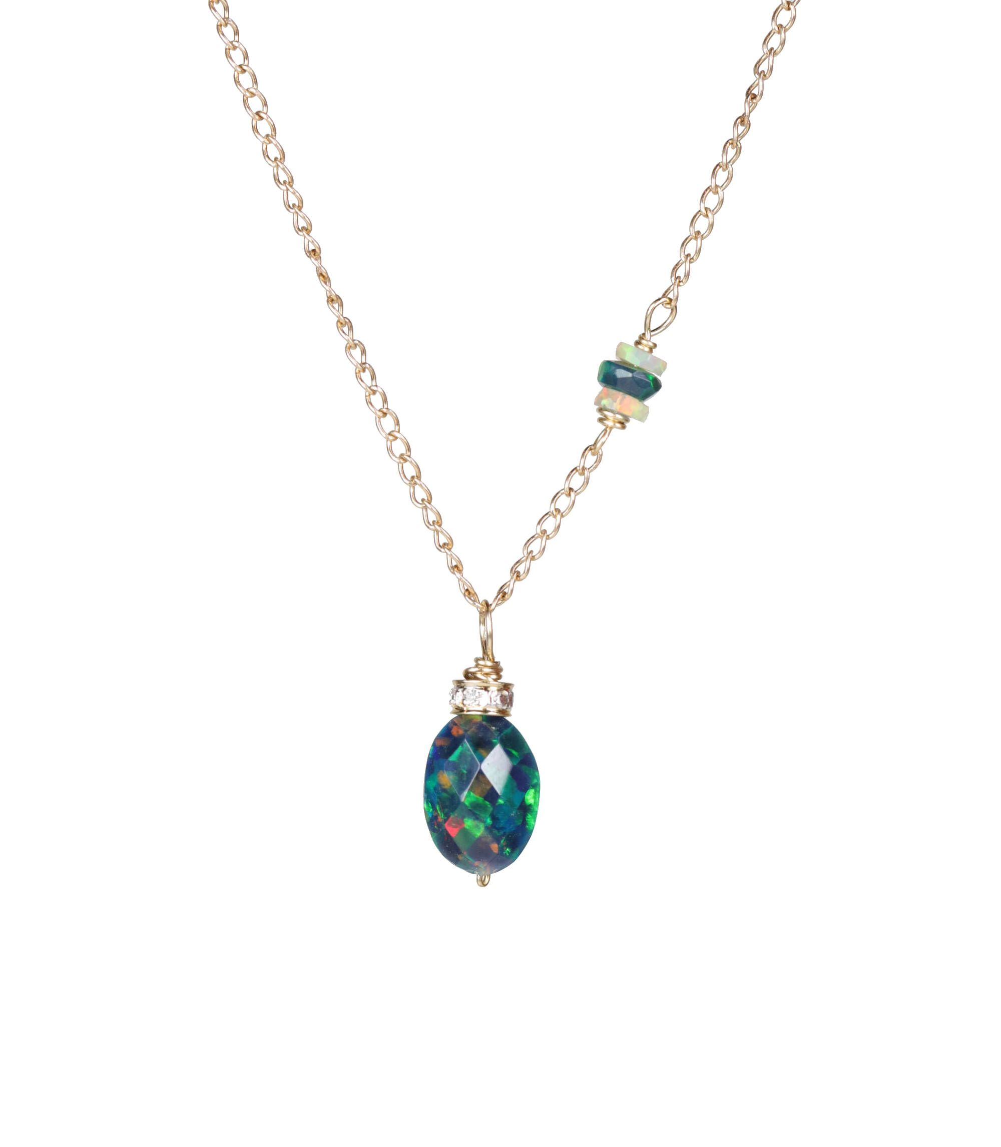 necklace australian pendant black products bo sydney toscow opal w white diamond gold