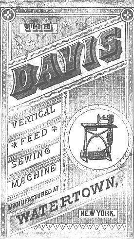 Davis Vertical Feed Sewing Machine Brochure Vintage Sewing Machines Sewing Sewing Machine