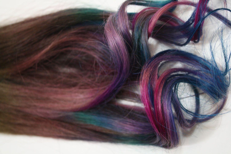 Handmade Dark Tye Dye Tips 100 Human Hair Extensions Festival