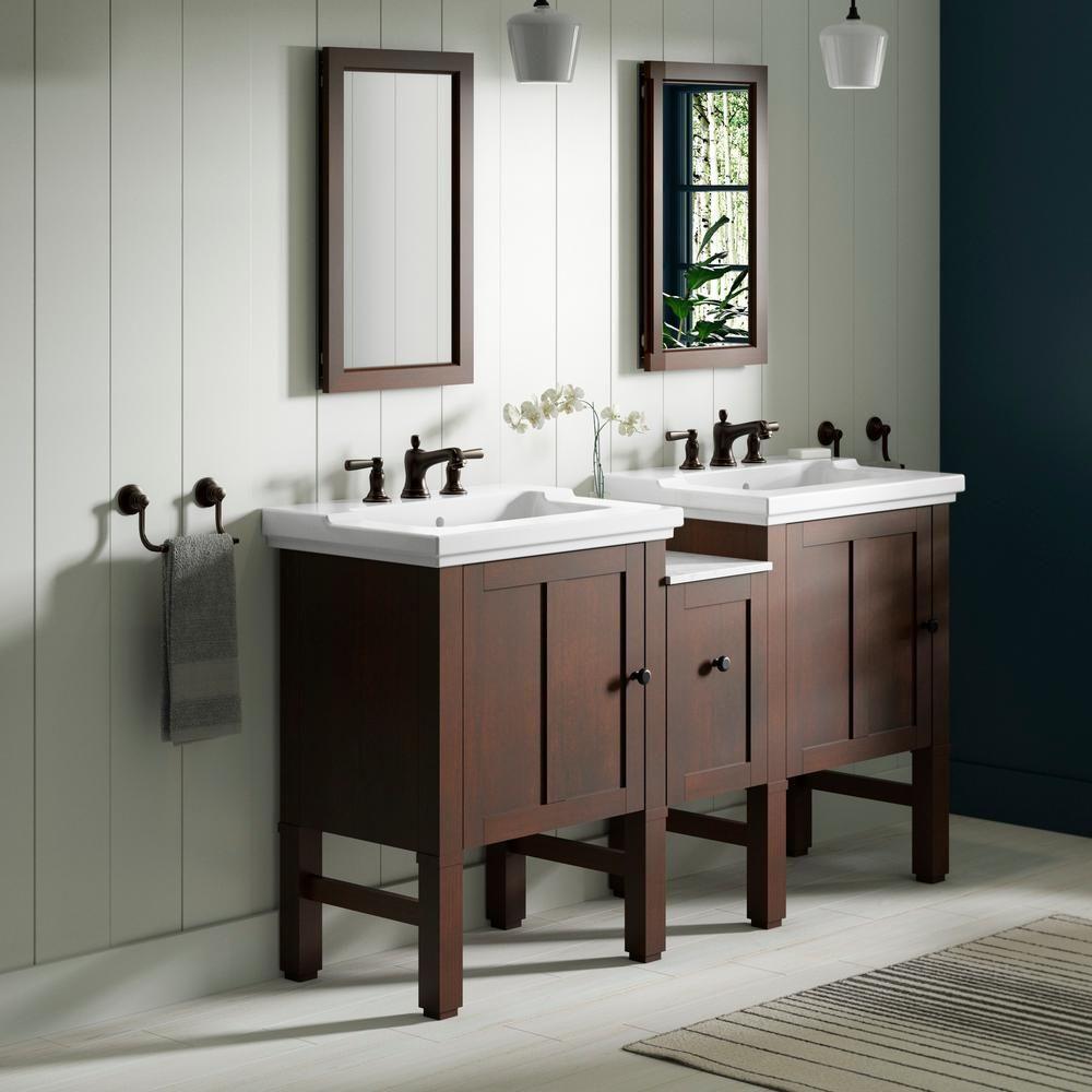 Kohler Chambly 60 In W Vanity In Woodland With Ceramic Vanity Top In White With White Basin K 20195 60 F69 The Home Depot Bathroom Vanity Tops Vanity Vanity Top [ 1000 x 1000 Pixel ]
