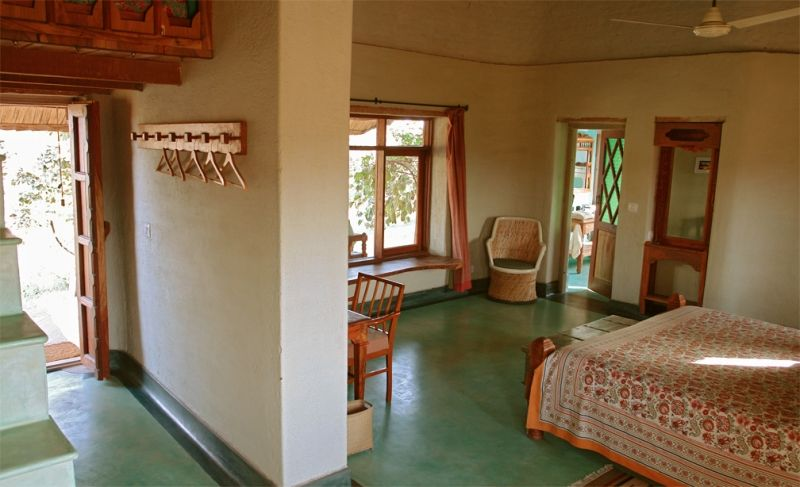 Thats a nice shade of oxide floor Indian home design