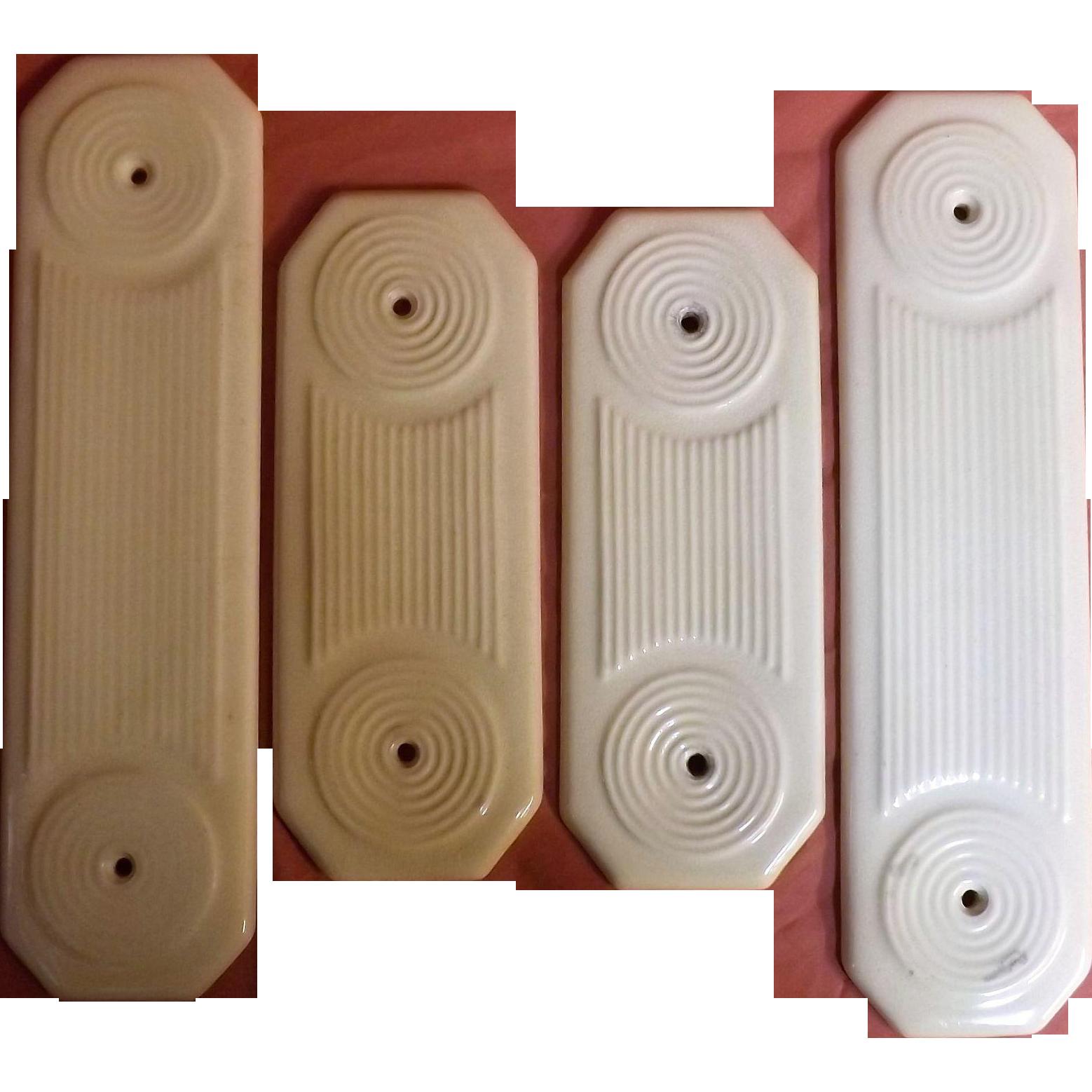 A Set of Four Victorian Ceramic Door Push Plates - Dates as 1892  sc 1 st  Pinterest & A Set of Four Victorian Ceramic Door Push Plates - Dates as 1892 ...