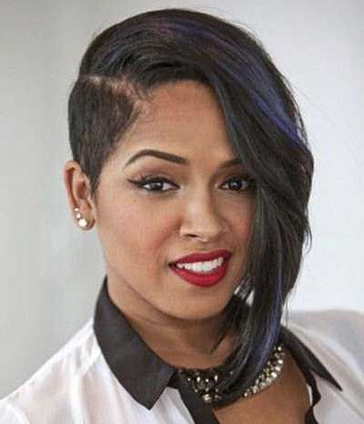 short hairstyles for black women over 30  one side shaved