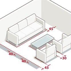 Mesures et dimensions pour aménager un salon