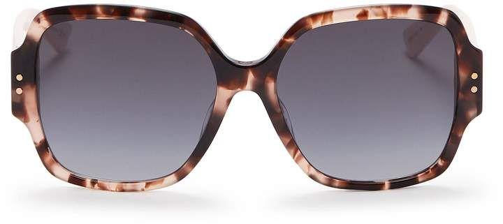78e04b98e274 Dior  Lady Dior Studs  tortoiseshell acetate square  sunglasses. A  reinterpretation of Dior s Cannage design