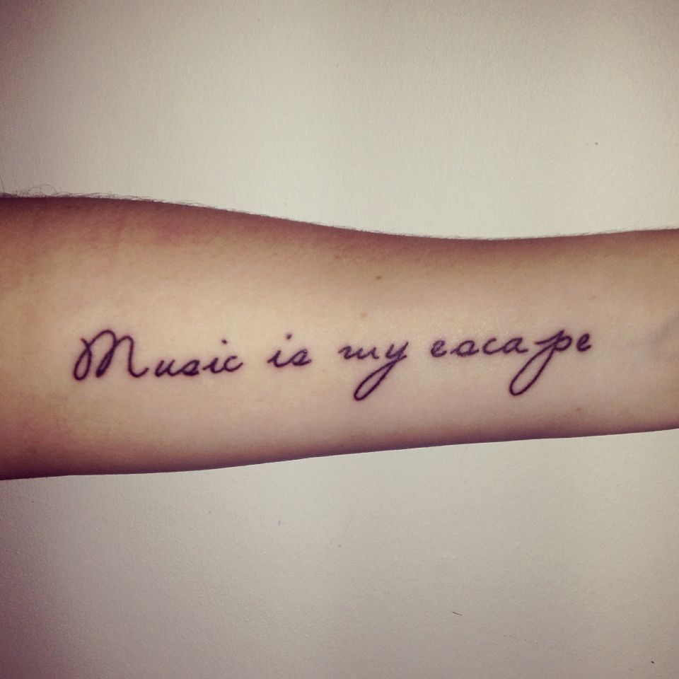 Music quote tattoos, house a rising sun