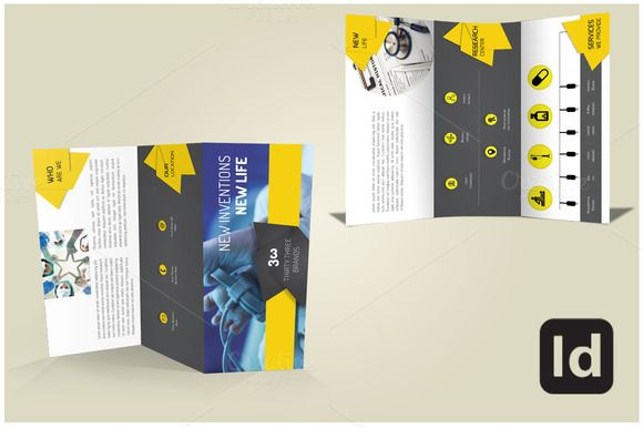 Buy this Tri Fold Brochure Template by PixelNMe on Creative Market - pamphlet layout
