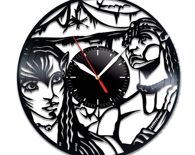 Avatar vinyl record wall clock, nice home decor, best gift idea - küchen wanduhren shop