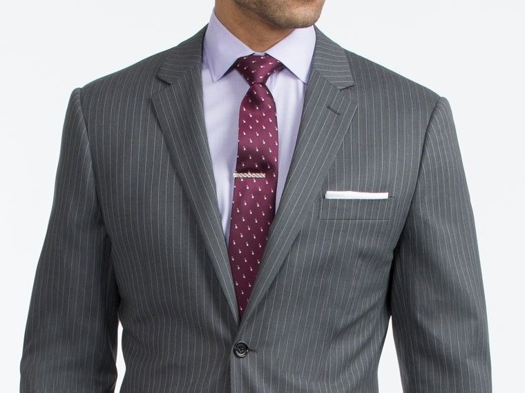 Dark Gray Pinstripe Suit | Products, Suits and Gray