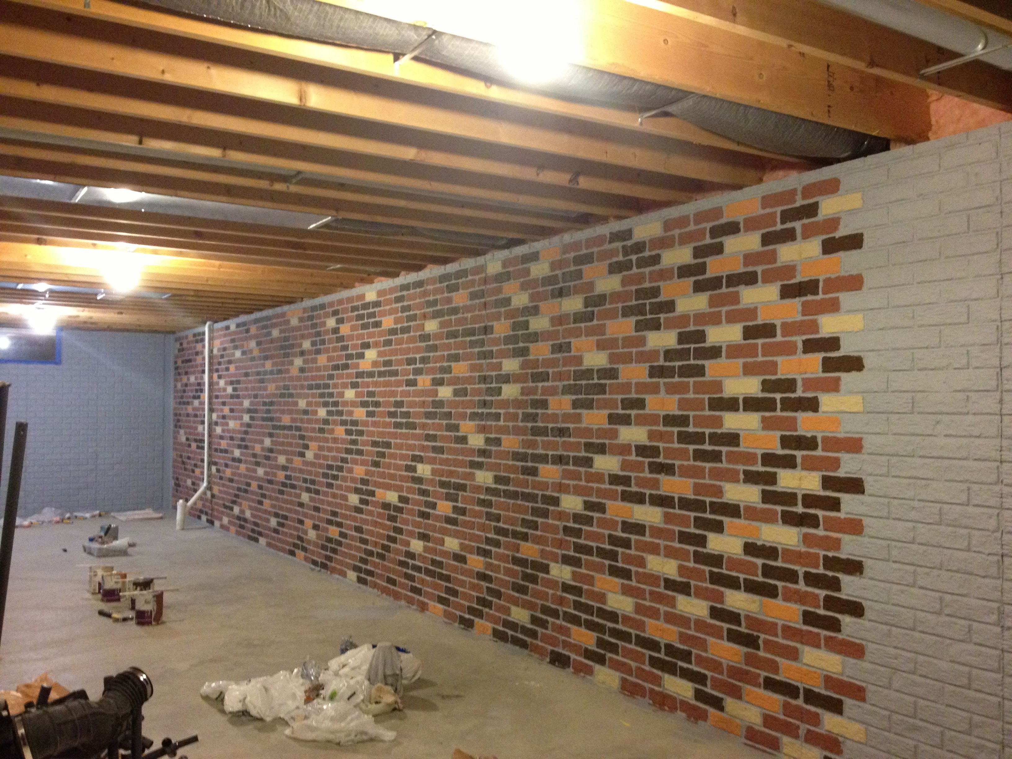 the seams on a stamped concrete wall disappear when the on paint for basement walls id=43118