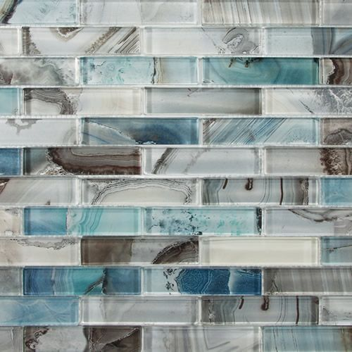 "Kitchen Design Ideas Linear: Barlume 1"" X 4"" - Oceano Linear Mosaic"