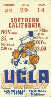 Football Art Made From An Authentic 1944 Ucla Vs Usc Football Game Ticket Wonderful Father S Day Gif Gifts For Football Fans Fathers Day Gifts Football Gifts