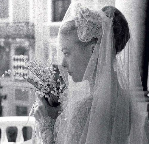 Grace Kelly the bride, 1956