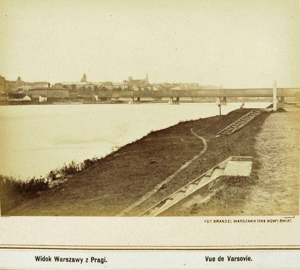 Widok Warszawy z Pragi.