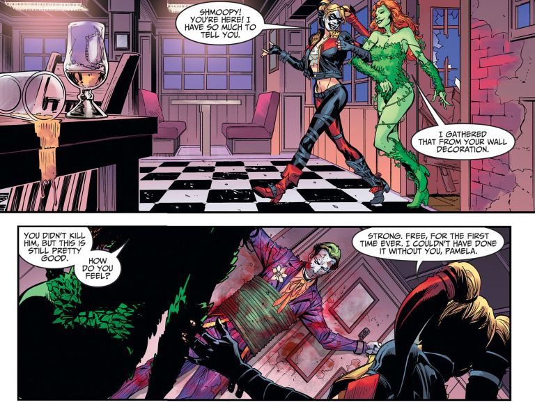Poison Ivy And Harley Quinn Kiss Harley Quinn And Poiso...