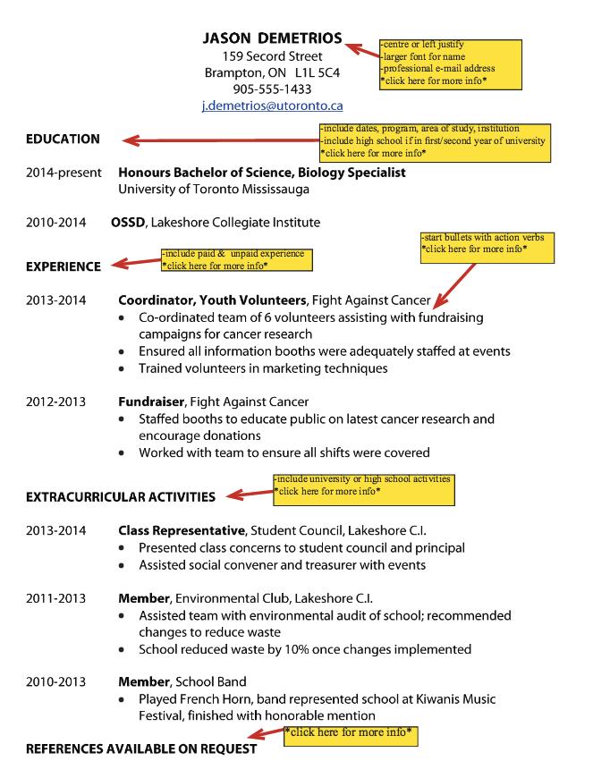 Samples Of Toronto University Resume Free Resume Sample Free Resume Samples This Or That Questions Sample Resume Templates
