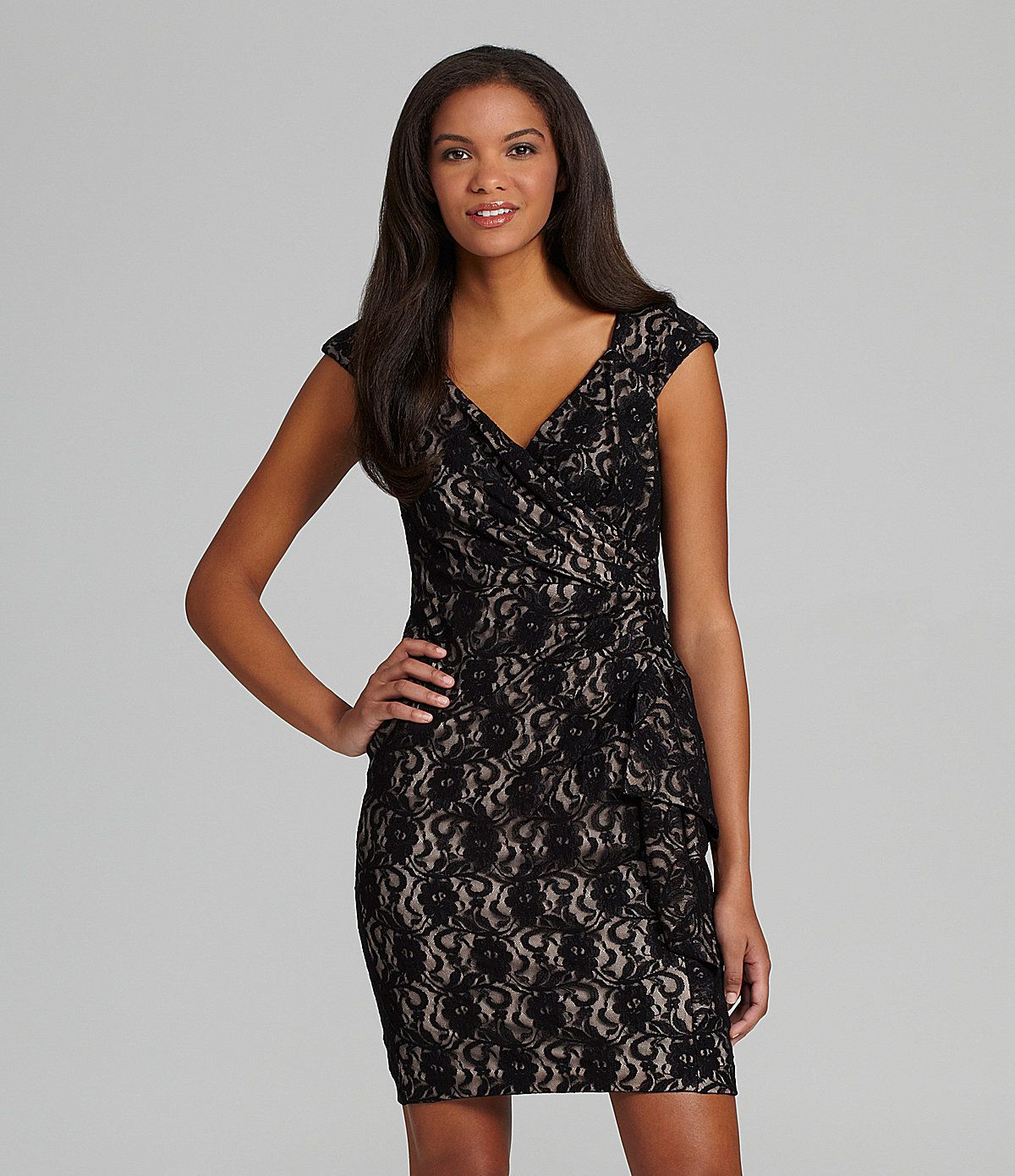 Maggy London Cap-Sleeve Lace Dress   Dillards.com   Fashion ...