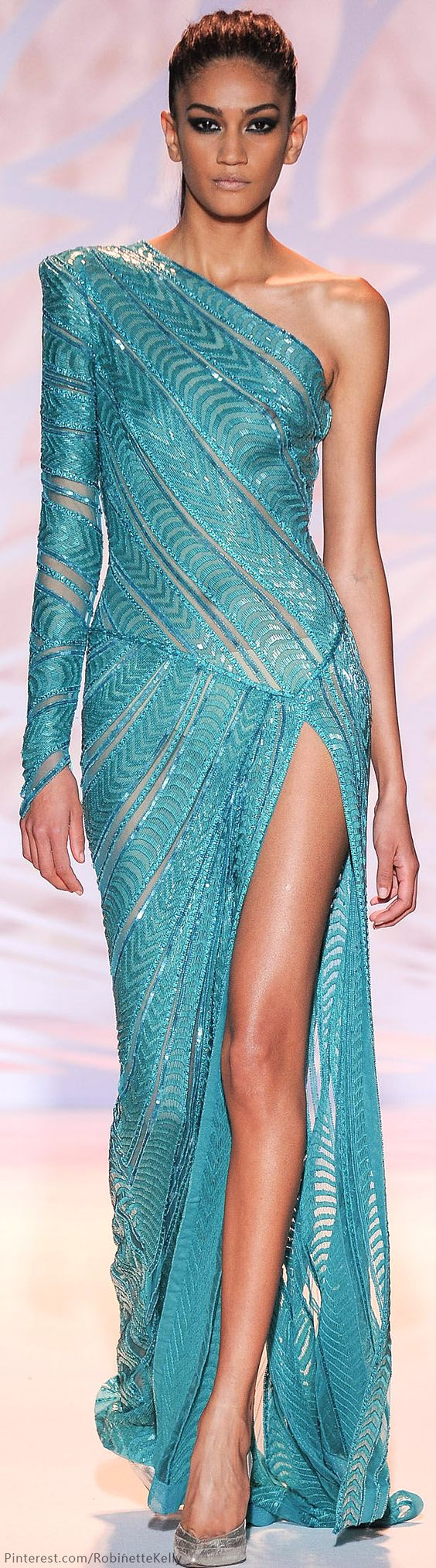 Zuhair Murad Haute Couture | F/W 2015: maxi dress gown @roressclothes closet ideas women fashion outfit clothing style