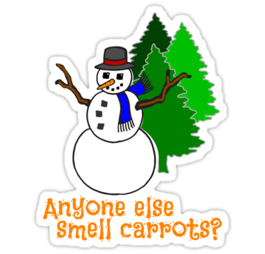 Funny Snowman - Smell Carrots? by JustKiki