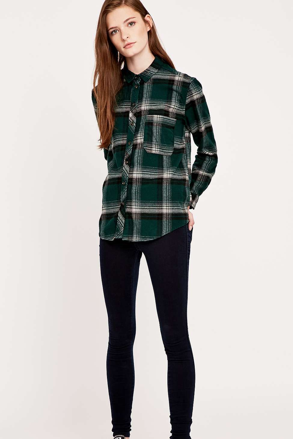 Flannel with shirt underneath  BDG Olly Dylan Plaid Shirt  Plaid Latest styles and Urban outfitters