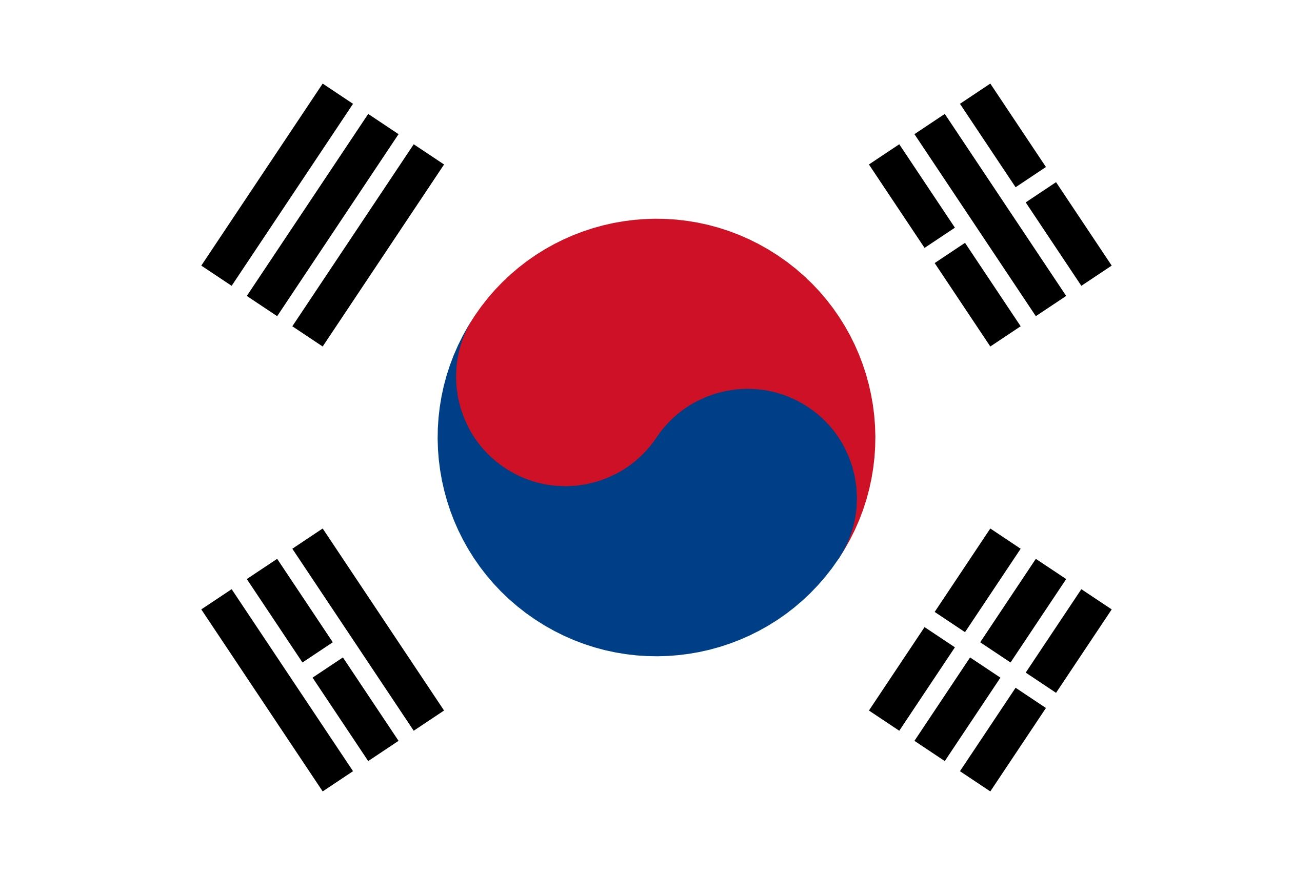 BANDERA DE COREA DEL SUR | Korean flag, South korean flag, South korea flag
