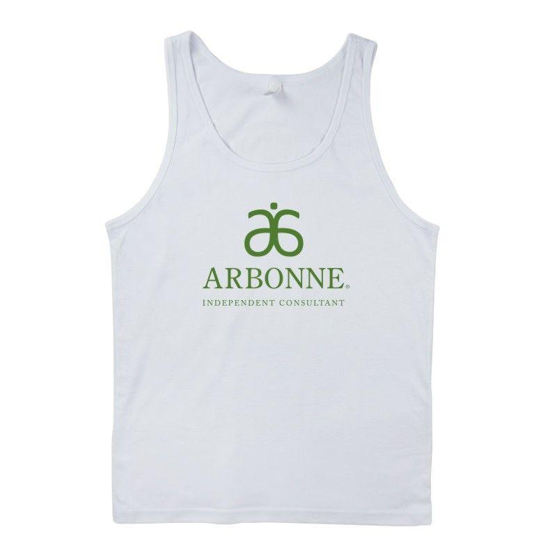 Arbonne Unisex White Tank #dsaccess #arbonne #apparel #arbonneshirt #arbonnetank #tanktop