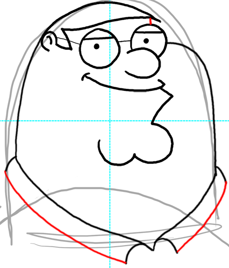 How To Draw Peter Griffin From Family Guy Step By Step Drawing Lesson How To Draw Step By Step Drawing Tutorials Step By Step Drawing Drawing Lessons Griffin Drawing