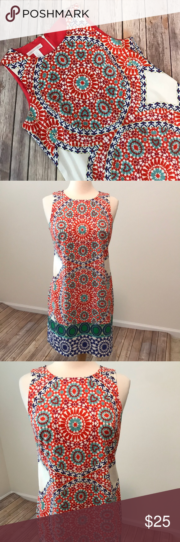 London Times Sheath Dress Colorful London Times Sheath Dress With Vibrant Colors Euc A Kaleidoscope Like P Clothes Design Colorful Dresses London Times Dress