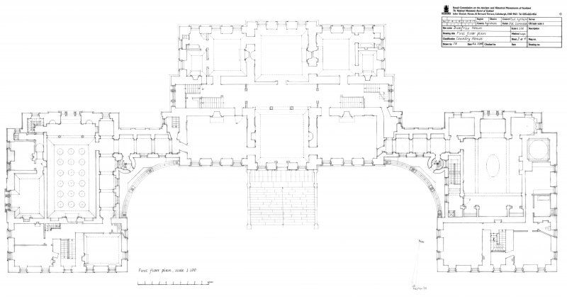 First Floor Plan of Dumfries House in Ayrshire, Scotland. | All ...