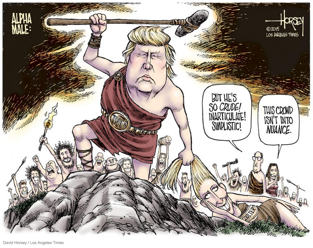 Image result for trump the warrior cartoon