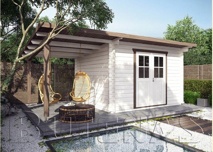 Das Blockhaus das blockhaus pepinos aus verleimten fichte blockbohlen mit pultdach