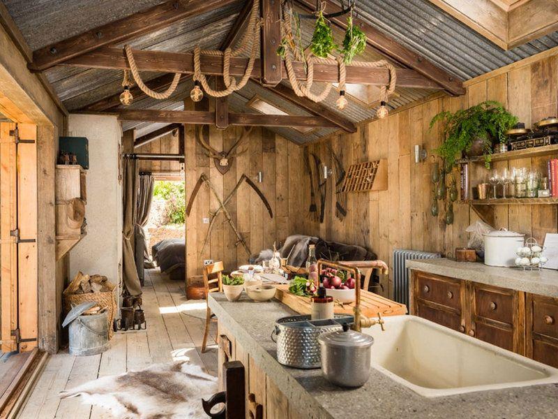Una caba a de cuento muy r stica decoraci n pinterest for Modelos cabanas rusticas pequenas