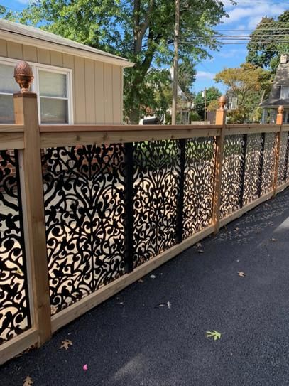 Acurio Latticeworks Ginger Dove 32 In X 4 Ft Black Vinyl Decorative Screen Panel 3248pvcbk Gndv The Home Depot In 2020 Decorative Screen Panels Garden Fence Panels Fence Design