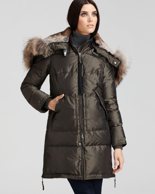 parajumpers women long bear coat army green. Black Bedroom Furniture Sets. Home Design Ideas