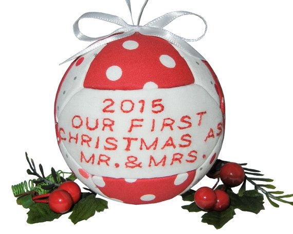 2015 Our First Christmas As Mr  Mrs Christmas Ornament Wedding
