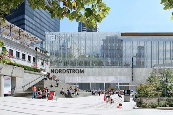 Need A Job Nordstrom Begins Hiring For 1 000 In Vancouver Glass Building Downtown Vancouver Building